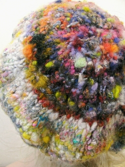 Finished Felted Beret Back