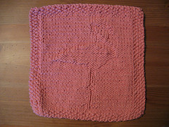 Knit Flamingo Dishcloth 2