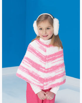 0f812068ef28 Kids  Striped Knitted Poncho