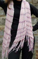 Pink Open Weave Scarf