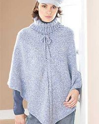 Pretty Turtleneck Poncho