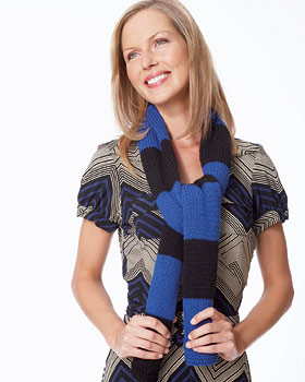 Easy Knit Striped Scarf
