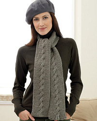 Stylish Cable Knit Scarf
