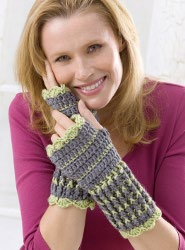 Lacy Crochet Wrist Warmers