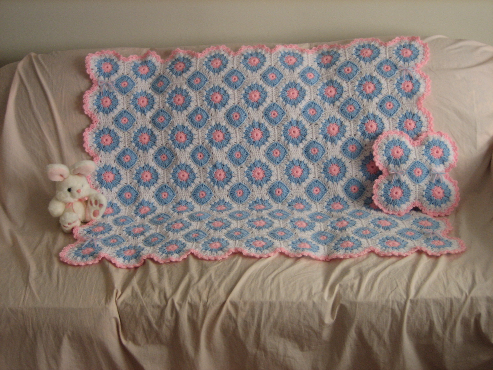 Lacy Crochet Afghan And Pillow Set Favecrafts Com
