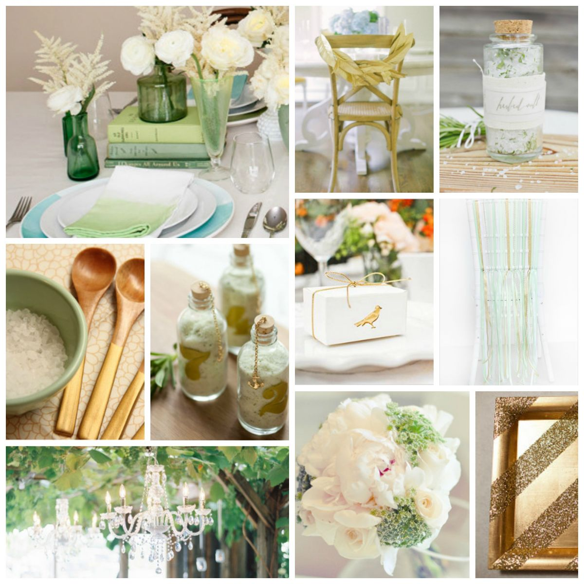 Wedding Color Schemes: Mint and Gold | AllFreeDIYWeddings.com