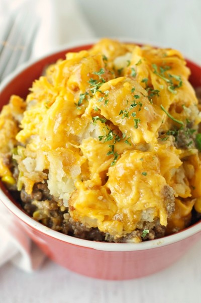 Make-Ahead Cheesy Beef Tater Tot Casserole
