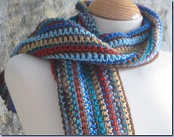 Free Crochet Pattern For Mens Scarf : Mans Easy Striped Scarf AllFreeCrochet.com