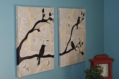 Finished Bird Wall Art