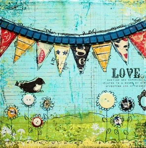 Love is in the Air Mixed Media Canvas