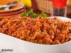 Beefed-Up Spanish Rice