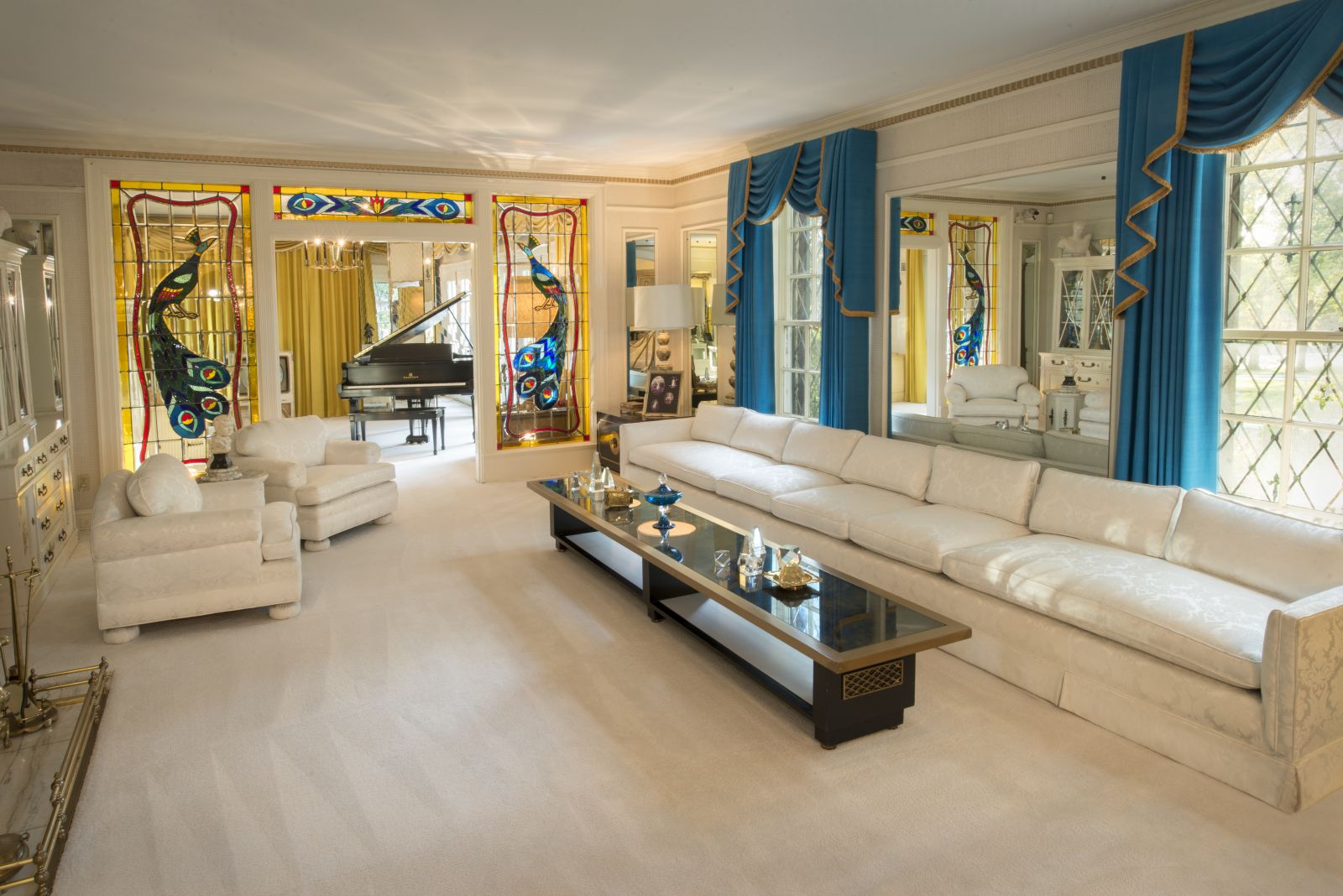 Elvis Presley's Graceland Living Room