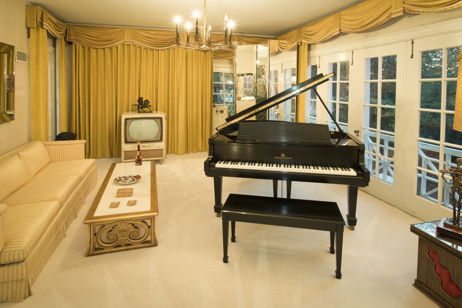 Elvis Presley's Graceland Music Room