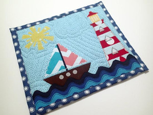 Nautical Mug Rug Applique Template and Tutorial