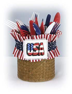 4th of July Utensil Holder