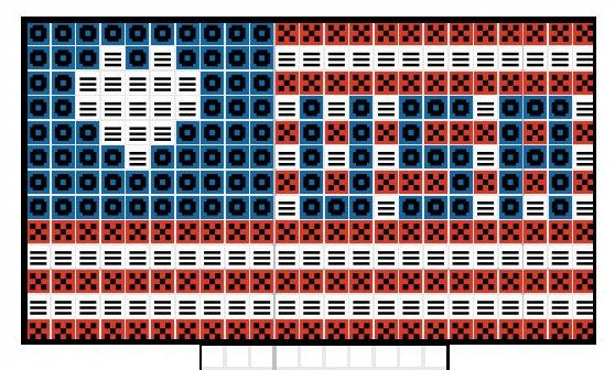 American Flag Diagram