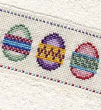 easter egg towel