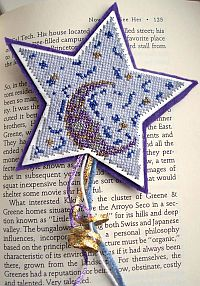 Night Sky Bookmark Cross Stitch