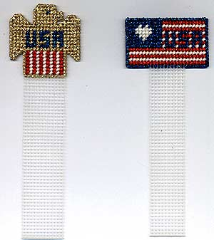 Plastic Canvas American Flag Bookmark