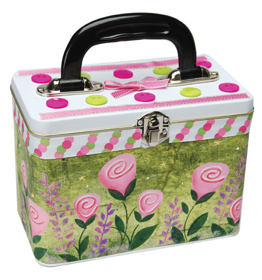 Tin Rose Painted Purse