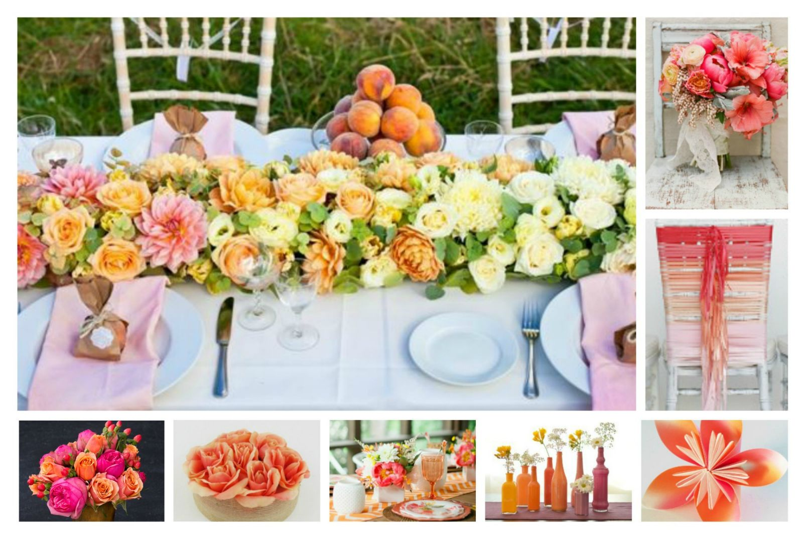 Wedding Color Schemes Pink Coral And Orange Allfreediyweddings