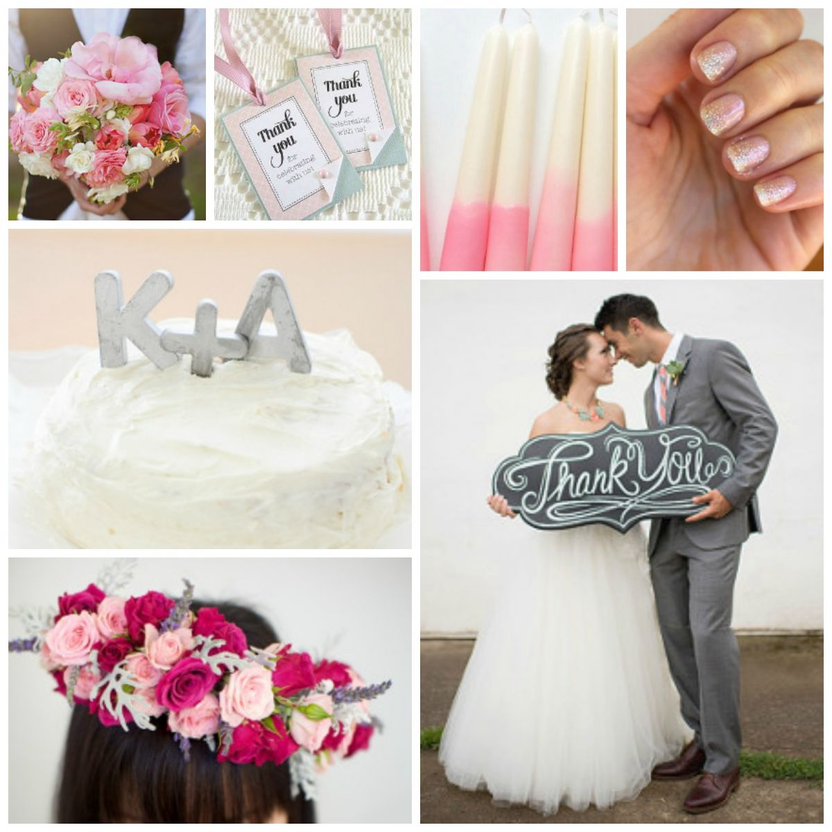 Wedding Color Schemes: Pink and Grey | AllFreeDIYWeddings.com