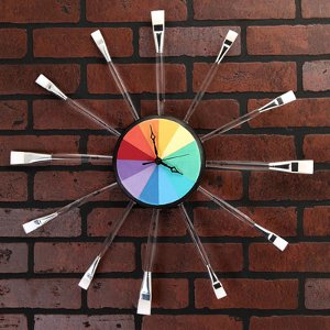 23 diy geeky gifts for nerds favecrafts artsy rainbow clock solutioingenieria Gallery