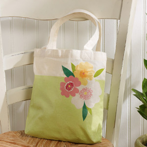 Beachy Floral Tote