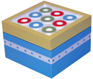 Colorful Circle Inlay Box