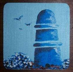 Paint Your Own Delft Coasters