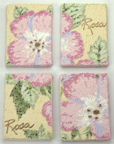 Floral Canvas Group of Four