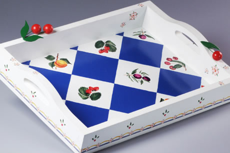 Painted Fruit Serving Tray