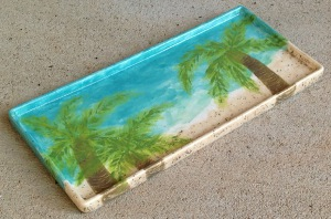 palm tree tray