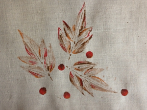 Painted Tray Cloth