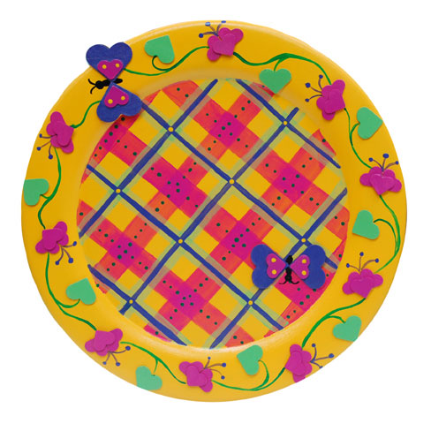 Summer Butterfly Plaid Plate
