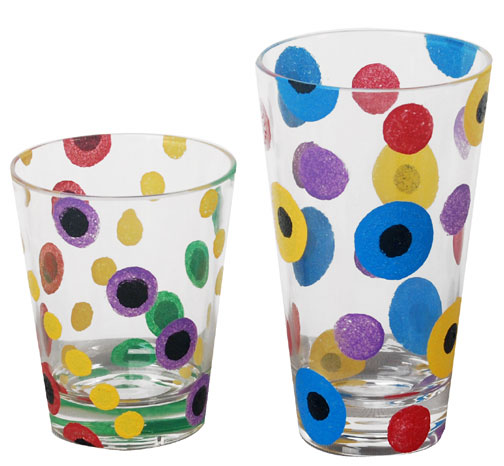 Spotted Painted Drink Tumblers
