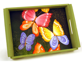Painted Butterfly Tray