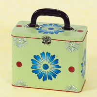 Stencil Flower Painted Box