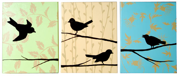 Songbird Three Painting Set