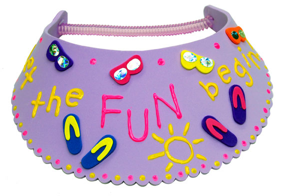Summer Fun Painted Visor