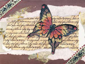 Beaded Butterfly Card