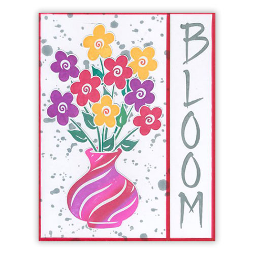 Blooming Spring Flowers Card 1
