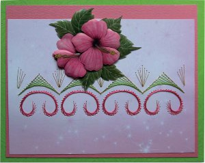 Hawaiian Bliss Embroidered Card