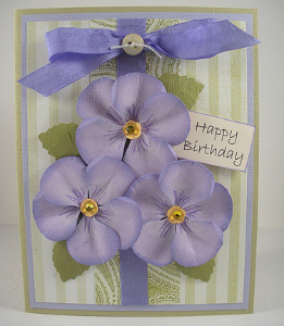Pansy birthday card favecrafts make your own birthday cards with this easy project idea from sue eldred the pansy birthday card features beautiful paper flowers making it the perfect bookmarktalkfo