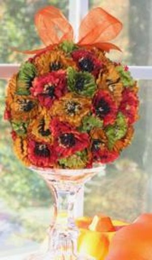 Citrus Inspired Floral Ball