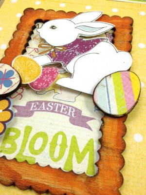 easter letter press tray