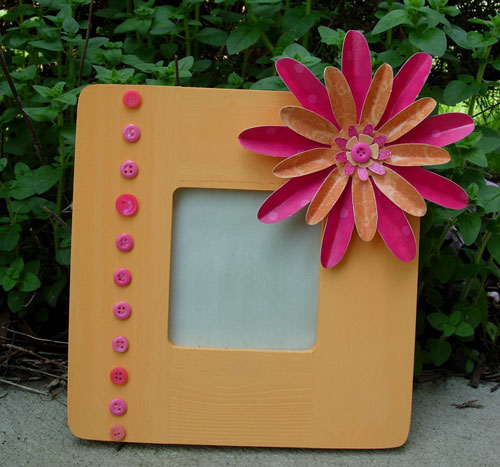 Flower and Button Frame