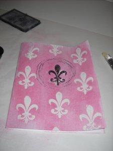 French Quarter Note Card Stamped Fleur de Lis