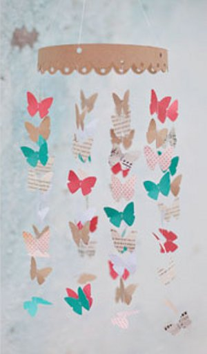 Paper Butterfly Mobile