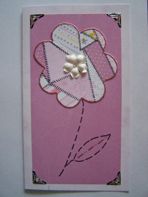 Patchwork Flower Card